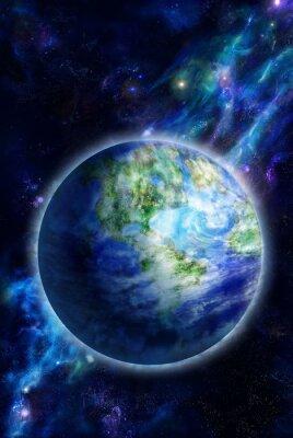 Картина Красивая Земля в пространстве