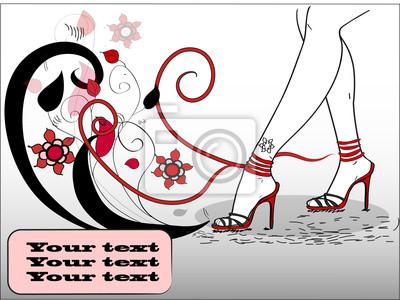 красивые женские ноги в модных сандалий