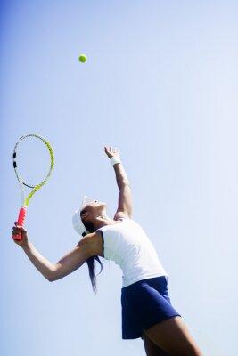 Картина Красивая теннисистка сервировки