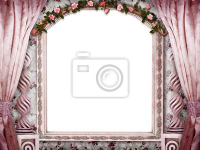 Красивый розовый номер