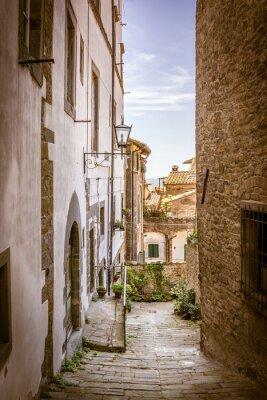Картина Красивая улица Кортона, Тоскана