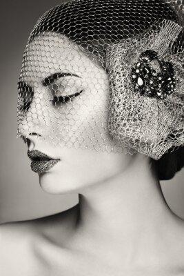 Картина Красивая женщина лицо. Идеальный макияж