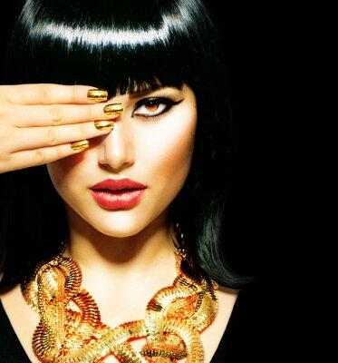 Картина Красота брюнетка Египетский Woman.Golden аксессуары