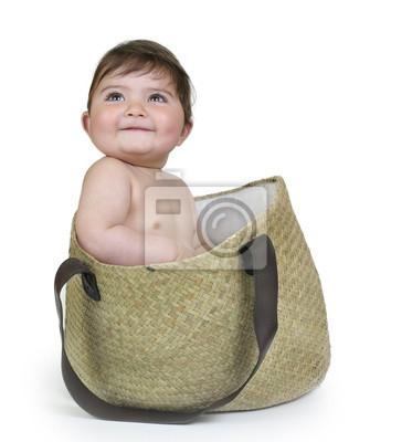 Bebé saliendo де ип Bolso.