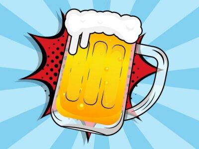 Картина beer mug with boom comic book, pop art
