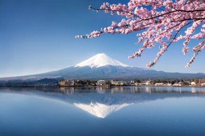 Картина Берг Фудзи в Японии Кавагутико