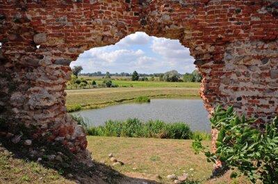 Картина Besiekiery, ruiny gotyckiego Zamku, Polska