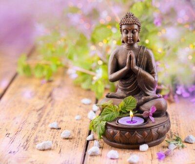 Картина Betender Будда мит унд Kerze Lavendel