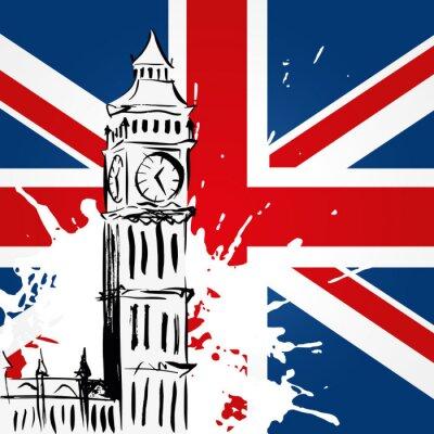 Картина Биг-Бен деван l'Union Jack