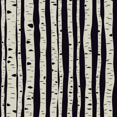 Картина Birches in vector
