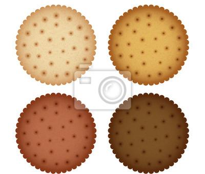 Печенье Cookie Cracker Коллекция иллюстрация EPS10