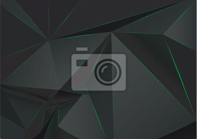 Черный абстрактный низкополигональная, многоугольной треугольной мозаики фон для веб, презентаций и печатных изданий. Векторная иллюстрация. Реалистичный 3D дизайн шаблона.
