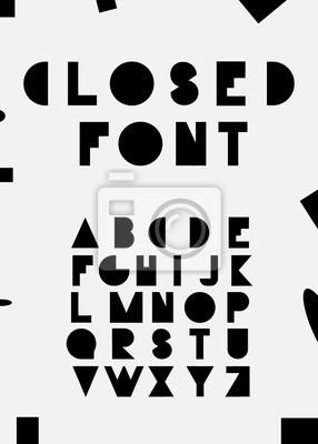 Черные алфавитные шрифты. Вектор eps10 иллюстратор.