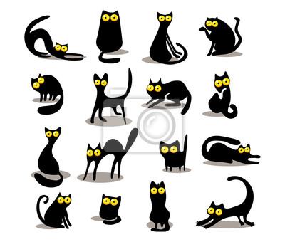 Черные силуэты кошачьи