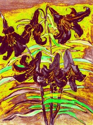 Картина Черные лилии
