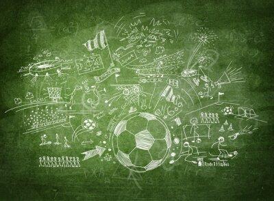 Картина Blackboard soccer concept