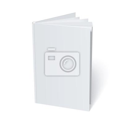 Пустая обложка белый изоляции. Вектор макете иллюстрации