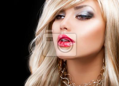 Картина Блондинка Мода женщина портрет. Светлые волосы