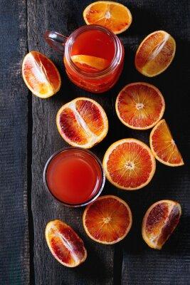 Картина апельсины крови с соком