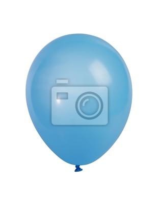 Синий шар на белом