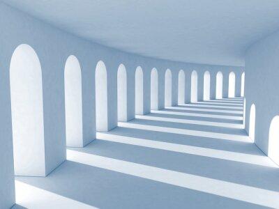 Картина Синий колоннады с глубокими тенями. Иллюстрация
