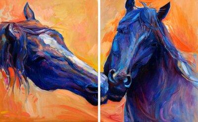 Картина Синие кони