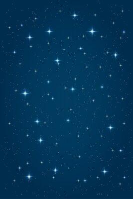 Картина Синий ночь звездное фон. Вектор шаблон вертикальный дизайн