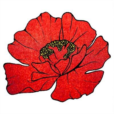 Картина Размытые красный цветок алый блеск мака текстуру фона