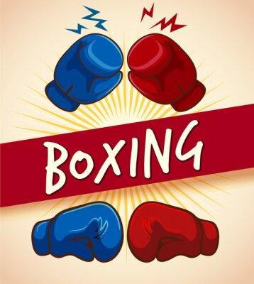 Картина Боксерские перчатки и баннер
