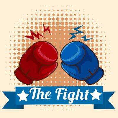 Картина Боксерские перчатки и figthing знак