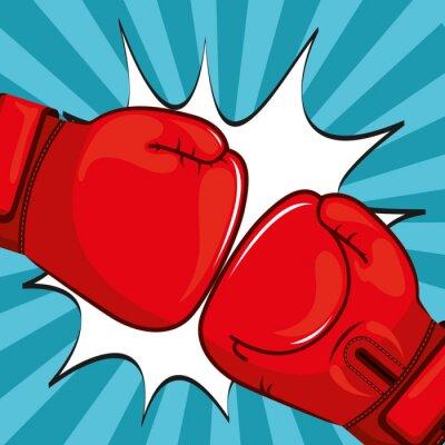 Картина дизайн Боксерские перчатки