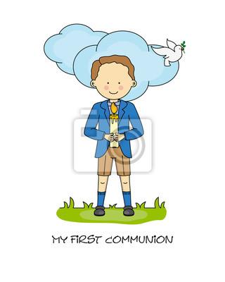 Boy First Communion card