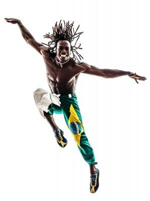 Картина бразильский черный человек Танцовщица прыжки силуэт