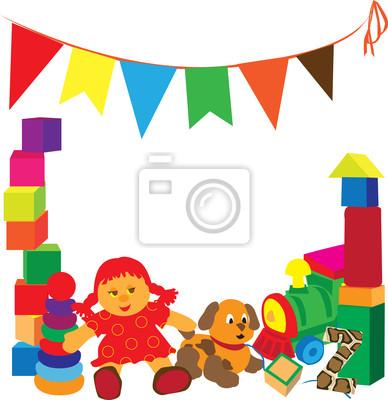 яркая рамка с игрушками