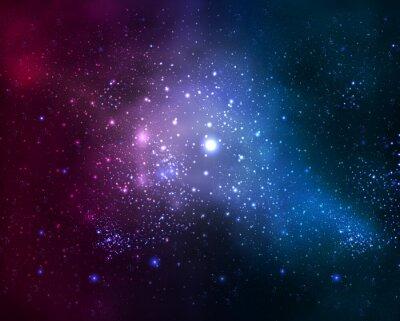 Картина яркая туманная галактика