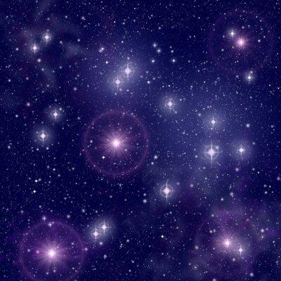 Картина Яркие звезды в глубоком космосе