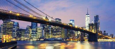 Картина Бруклинский мост в сумерках
