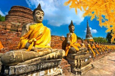 Картина Статуй Будды в Аюттхая, Таиланд,