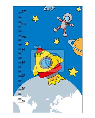 бампер дети метр стены. Космическая тема