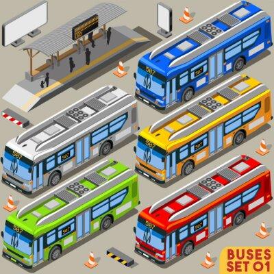 Картина Автобус набор 01 Автомобиль Изометрические