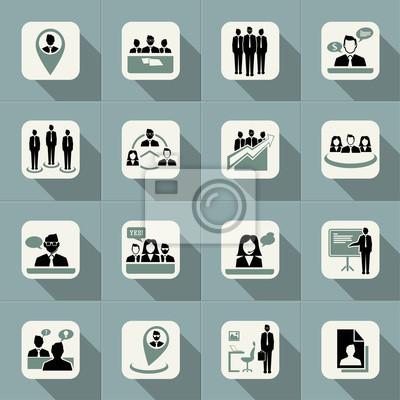 Бизнес веб-иконы, управление и человеческих ресурсов устанавливается.