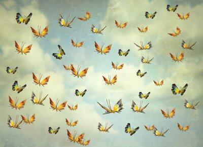 Картина Бабочки в небе