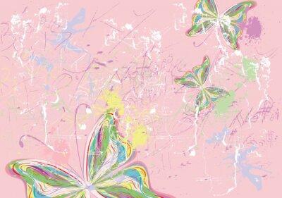 Картина Бабочка краски