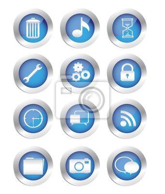 кнопок с иконами силуэты