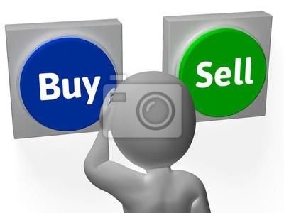 Купля-продажа Кнопки Показать Торговые акций или долей