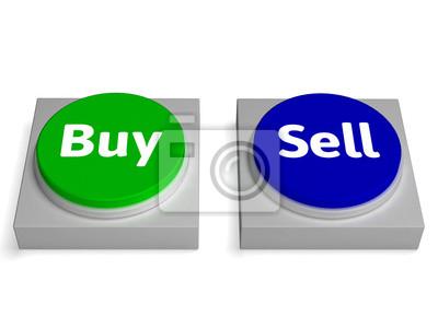Купить Продать Кнопки Показывает покупке или продаже