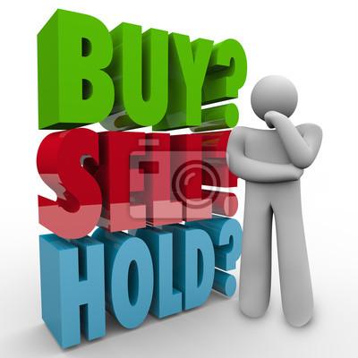 Купить Продать Держите 3D Слова складе Инвестор рынке