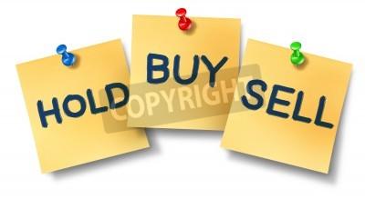 Купить продать занимать должность отмечает, представляющие фондового рынка обмена торговую концепцию Wall Street брокеров и инвесторов, инвестирующих в акции или продавать свои права собственности ком