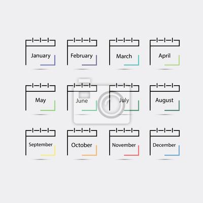 Значок календаря, векторные иллюстрации eps10. Календарь Дата. Современные иконки для вашей работы: документ, презентации, веб и мобильных приложений, инфографики, обложка, плакат, доклад, флаер, банн
