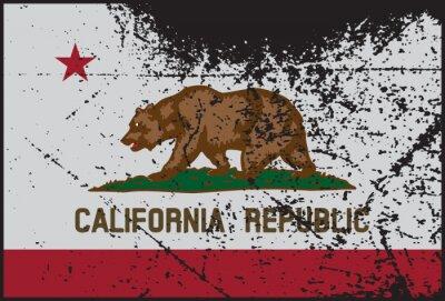 Картина Калифорния Флаг Grunged